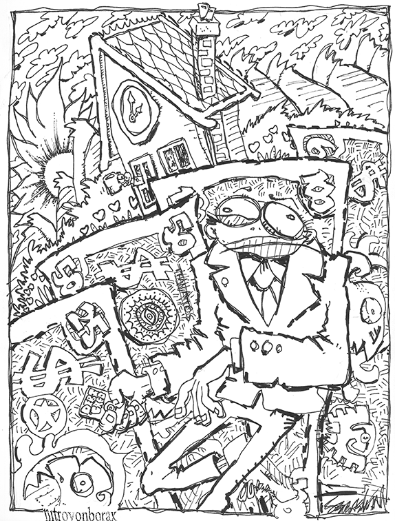 Amerikan Observations A Prurient Keyhole View Of Life In Our Plutocratic Dystopia Provides Opportunities For Carefree Coloring Fun Please